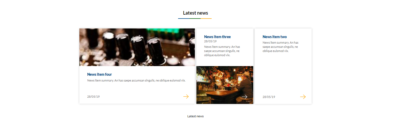 Image of latest news 3 panel option - white