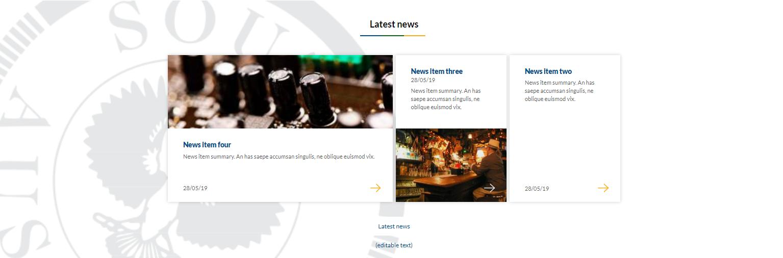 Image of latest news 3 panel option - custom background