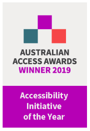 Australian Access Awards 2019 Winner badge Accessibility Initiative of the Year