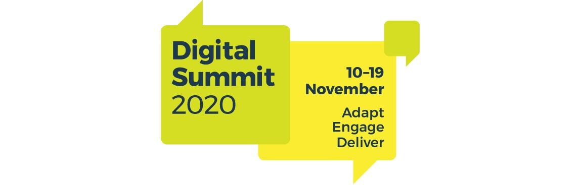 Digital Summit 2020 10 to 19 November Adapt Engage Deliver.